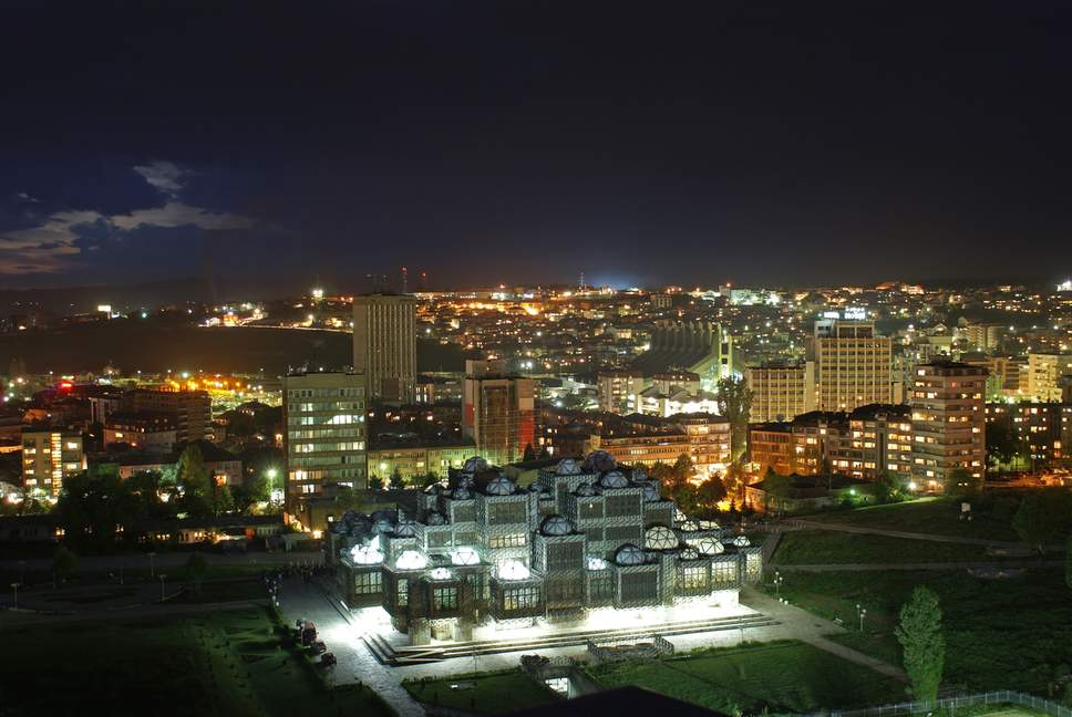 prishtina at night
